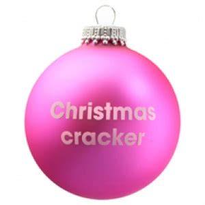 christmas cracker pink christmas tree bauble