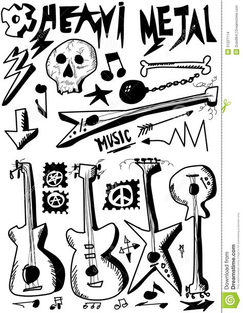 doodle metal doodle heavy metal stock images image 31227114