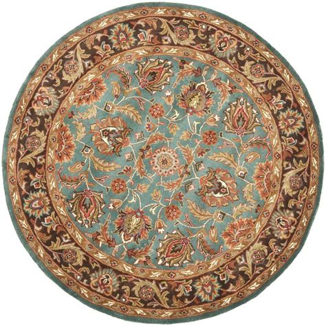 6ft circular rugs safavieh heritage blue brown 6 ft area rug hg812b 6r the home depot