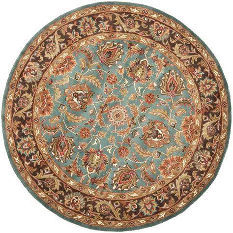6ft Circular Rugs by Safavieh Heritage Blue Brown 6 Ft Area Rug Hg812b