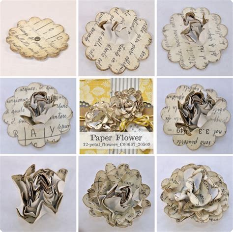Paper Flower Books - thursday sketch and paper flower tutorial
