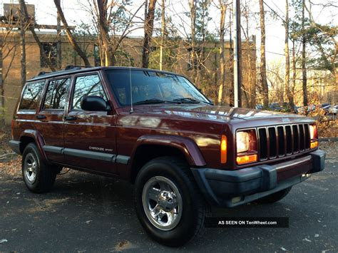 chrome jeep cherokee 2000 jeep cherokee sport awd chrome rims no accidents