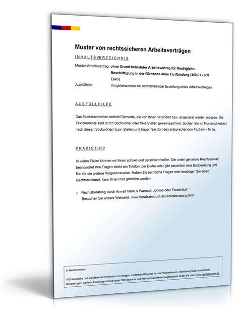 Muster Kündigung In Der Probezeit Arbeitgeber Befristeter Arbeitsvertrag Ohne Grund Gleitzone Muster Zum