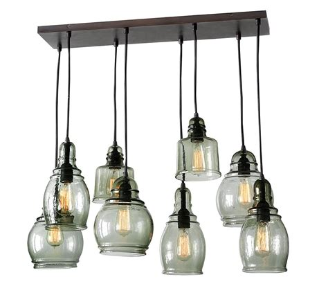 pottery barn hanging lights paxton glass 8 light pendant pottery barn