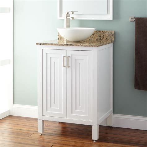 24 quot broden white vessel sink vanity bathroom