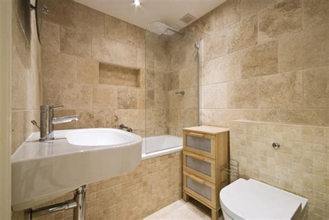 Travertine Marble Bathroom by Treat Surfaces Travertine