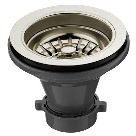 shop vigo stainless steel 1 vigo kitchen sink strainer in stainless steel vgstrainerst