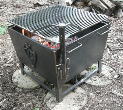 custom metal pits heavy custom fabricated iron pit and cooking stove with removable cooking grate yelp