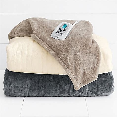 bed bath and beyond blankets therapedic 174 silky plush warming blanket bed bath beyond
