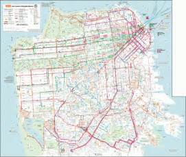 San Francisco Bus Map by Muni Bus Map Submited Images