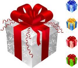 お洒落なリボンの色違いのプレゼント箱 color gift packaging vector イラスト素材 ai
