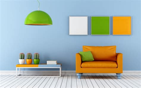 sofa orange color interior voguish contemporary interior design with