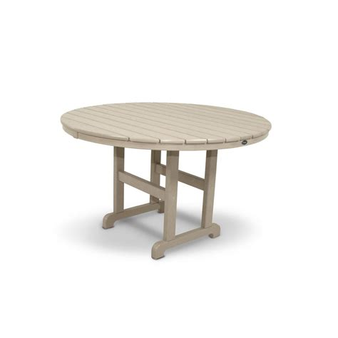 Trex Outdoor Furniture Monterey Bay 48 In Sand Castle Composite Patio Table