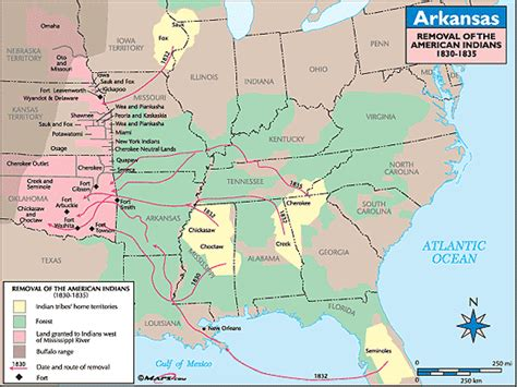 arkansas indian tribes map arkansas historical map removal of the american indians