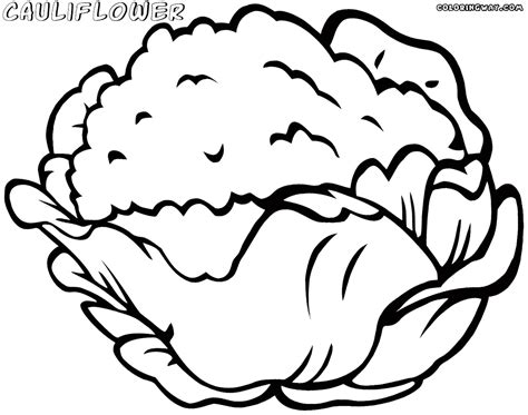Cauliflower Coloring Pages Coloring Pages To Download Coloring Page Of A
