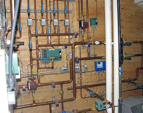 Hydronic Plumbing by Lake Home Features Uponor Radiant Heat And Chilled