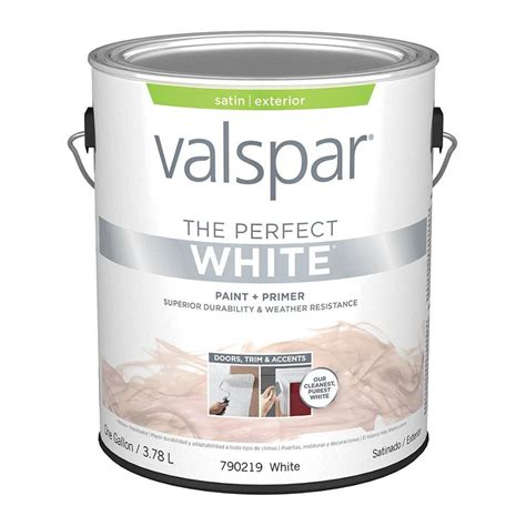 shop valspar white satin exterior paint actual net contents 128 fl oz at lowes