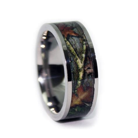 Wedding Rings Camo by Camo Wedding Rings Flat Titanium Ring Camouflage Band