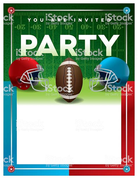 American Football Party Flyer Template Stock Vector Art More Images Of American Culture Free Tailgate Flyer Template