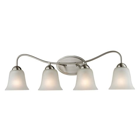 Brushed Nickel Bathroom Lights Shop Westmore Lighting 4 Light Ashland Brushed Nickel Bathroom Vanity Light At Lowes