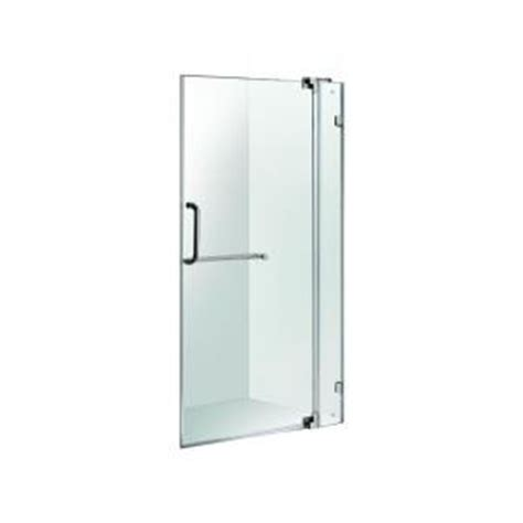 Frameless Glass Shower Doors Home Depot Vigo 30 In X 36 In Frameless Pivot Shower Door In Brushed Nickel With Clear Glass Vg6042bncl36