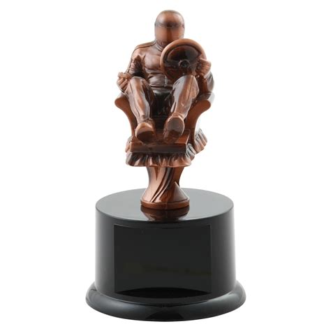 armchair racing armchair racing resin trophy