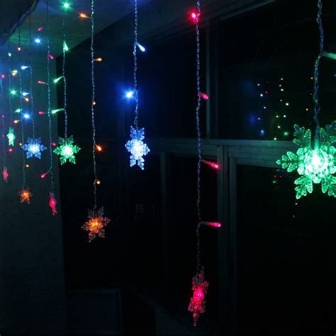 Led Snowflake Light String Christmas Wedding Curtain Snowflake Light String