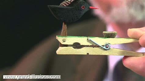 pecking bird craft toy youtube