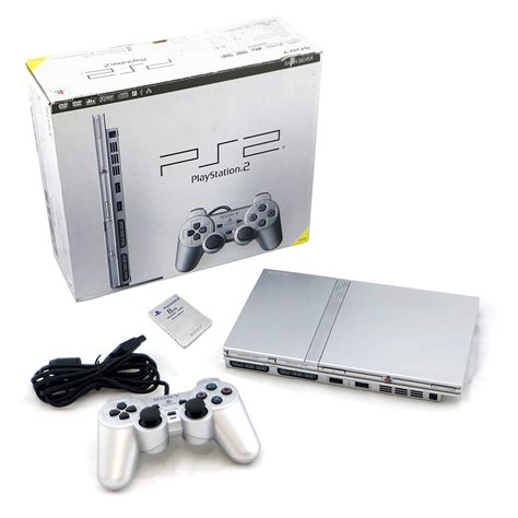 buy ps2 console playstation 2 slim silver console boxed pre owned