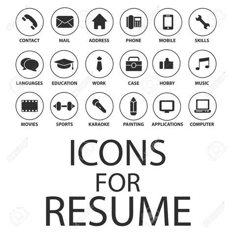 icons set pour votre cv cv clip libres de droits