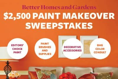better homes and gardens sweepstakes better homes and gardens paint sweepstakes