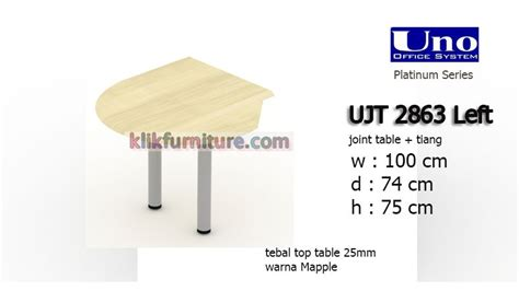 Uno Joint Table Ujt 2863 L Www Roommatefurniture ujt 2863 left uno joint table meja kantor sale