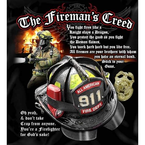 Army Home Decor by The Firemans Creed Tshirt Firefighter Apparel
