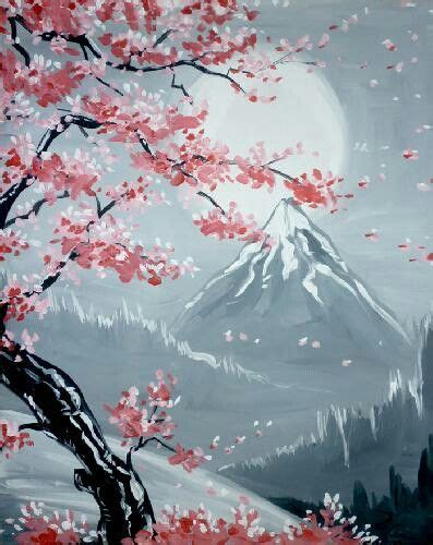 paint nite king of prussia simi cherry blossoms paint nite toronto crafts to try
