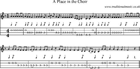 A Place Choir Mandolin Tab And Sheet For Song A Place In The Choir
