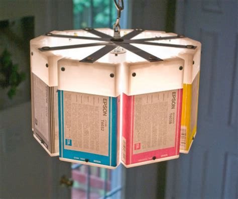 recycled materials for home decor stylish l created from recycled epson boxes