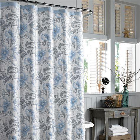 tommy bahama drapes tommy bahama alba botanica fabric shower curtain blue grey