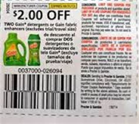 printable gain fabric softener coupons gain coupons