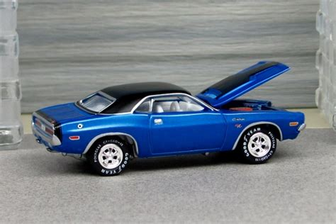 blue challenger rt 1970 dodge challenger rt blue with black roof r by