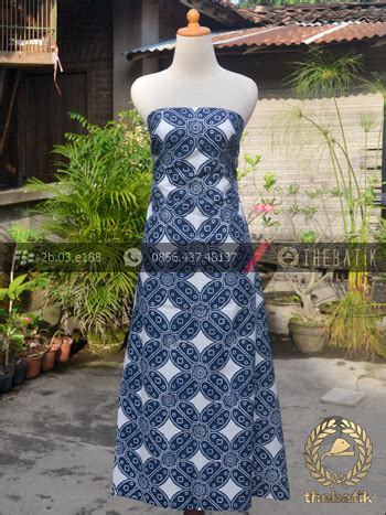 Kain Batik Cap Indigo Biru Fashion Wanita Pria Kemeja Batik jual kain batik bahan baju motif kawung biru dongker