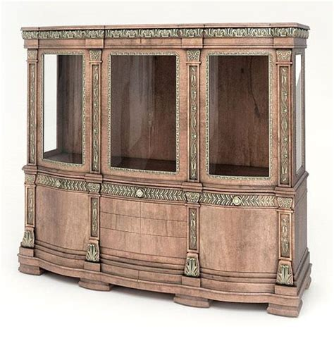 Large Wooden Storage Cabinets by Large Wooden Decorative Cabinet 3d Model Cgtrader