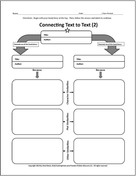 How To Make A Graphic Organizer On Paper - more free graphic organizers for teaching literature and