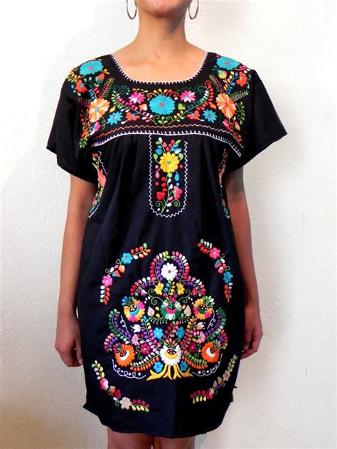 Mexican Wardrobe by 1960 S Bold Colorful Rainbow Floral Embroidered Hippie