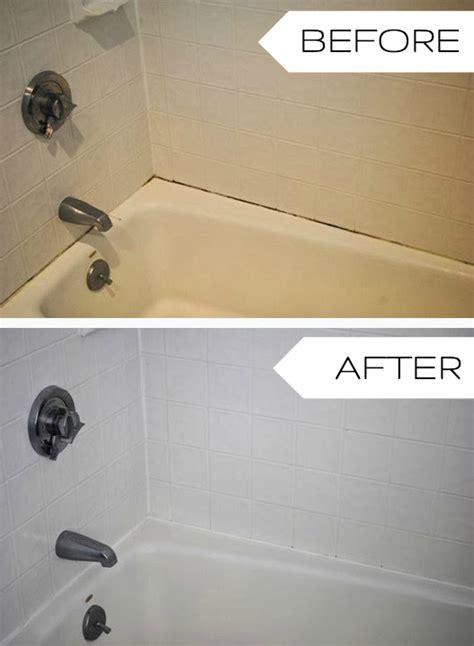 redo caulking around bathtub update an old bathtub in three easy steps the chronicles