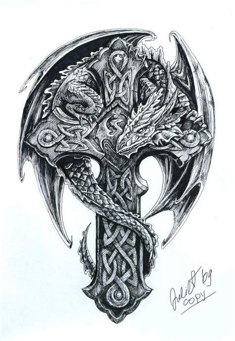 celtic cross with dragon tattoo religi 246 se tattoos tattoos celtic