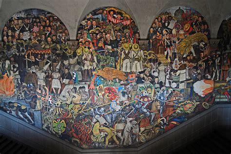 Pueblo Adobe Homes by Mural Diego Rivera Palacio Nacional Flickr Photo Sharing