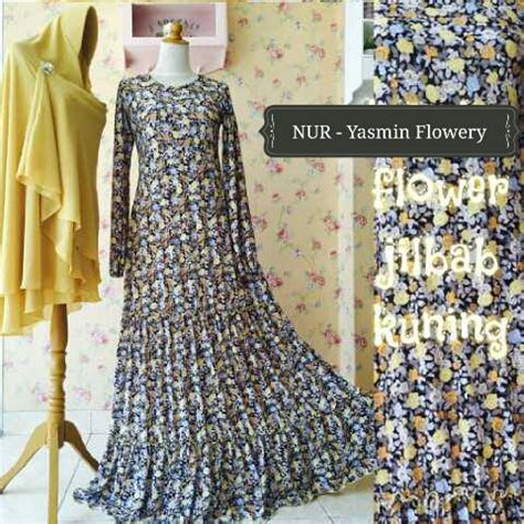 Dress Import Polkadot Supplier Dress Import gamis pesta syar i yasmin flowery syar i ready stock dan