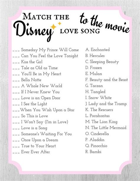 film love games songs 18 best images about bridal shower games on pinterest