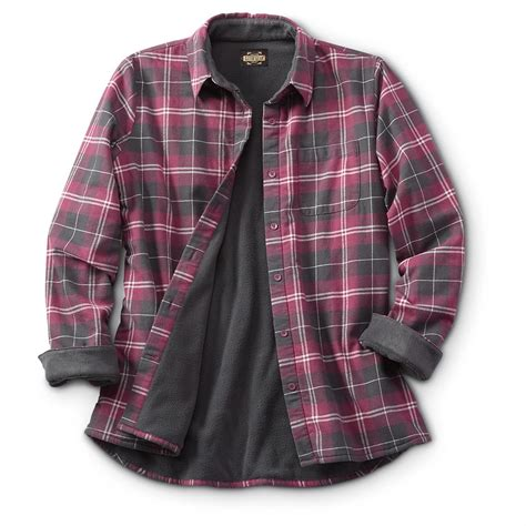 Fleece Lined guide gear s fleece lined flannel shirt 641433