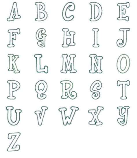 free printable alphabet letters for embroidery 14 fonts alphabet free printable images free printable